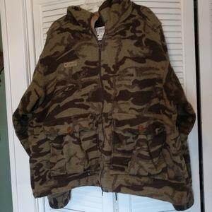Columbia Wool Camo Hooded Coat